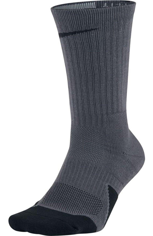Nike SX5593-021: 1.5 Crew Basketball Mens Dark Grey Black Socks (S) by Nike