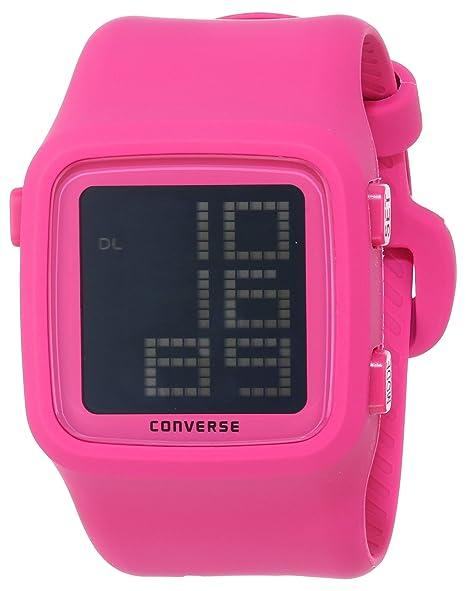 Converse VR002-610 - Reloj Unisex de Cuarzo, Correa de Silicona Color Rosa: VR2-61: Amazon.es: Relojes