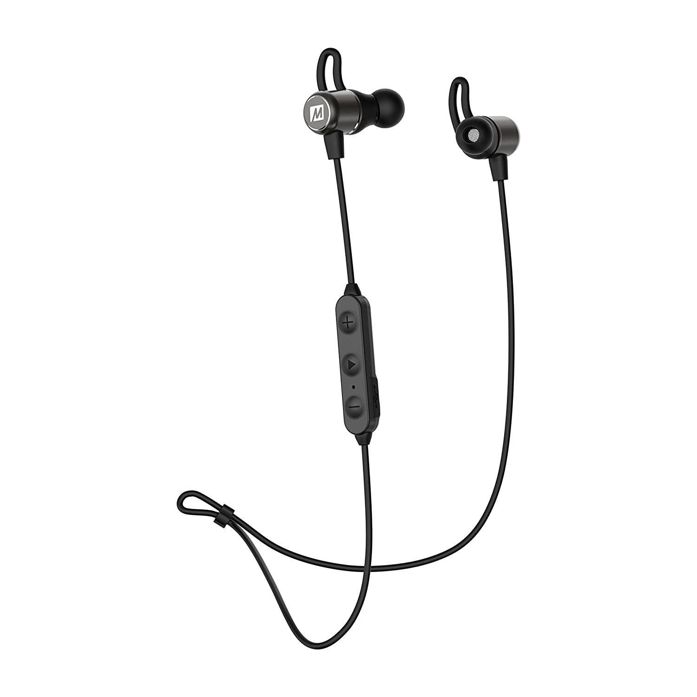 MEE audio EarBoost EB1 Bluetooth Wireless Adaptive Audio Enhancement Earphones with Companion app