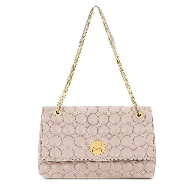 741a236013b3 Borsa Coccinelle Liya Matelasse modello Chanel in vera pelle - Seashell:  Amazon.it: Abbigliamento