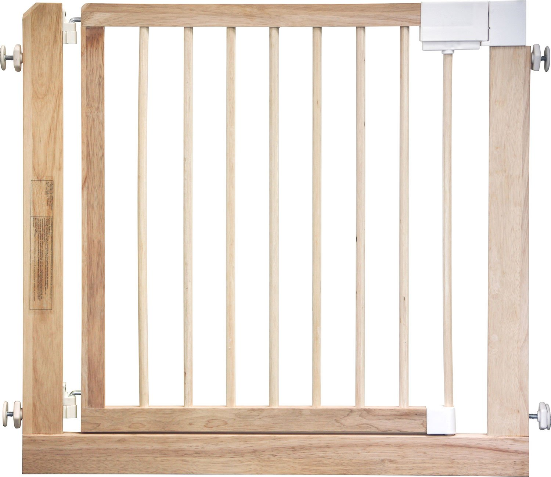 IB-Style - Barriere de sécurité des escaliers et des portes KOLBY | 3 tailles | 80 - 100 cm | a bois massif - naturel