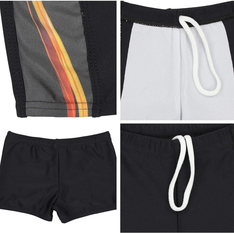 Aquarti Boys Swimming Trunks Contrast Stripe Boxer