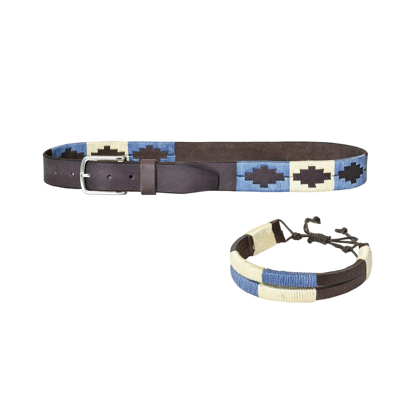 PELPE- Cinturón argentino de piel, con pulsera a juego ...