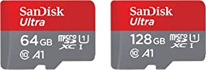SanDisk 64GB and 128GB Ultra microSD UHS-I Memory Card with Adapter Bundle