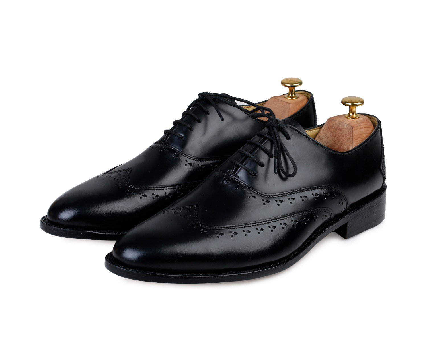 Lethato Wingtip Oxford Goodyear Welted Formal Handmade Leather Dress Shoes