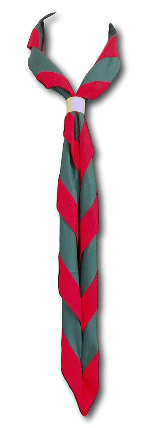 Cub & Scout Uniform Neckers In Many Colour Combinations black & red necker