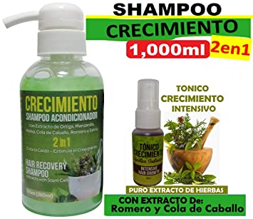 Amazon.com: CRECIMIENTO BIG (shampoo cre-c) 2 in 1 and 3 Ampollas ...