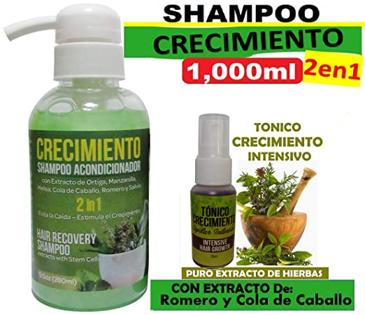 Amazon.com: CRECIMIENTO BIG (shampoo cre-c) 2 in 1 and 3 Ampollas: Beauty