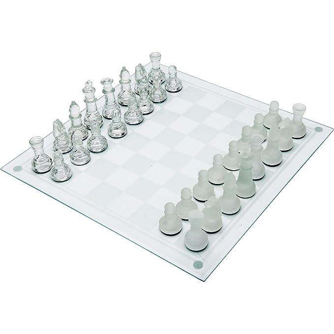 Maxam 33Pc Glass Chess Set Games