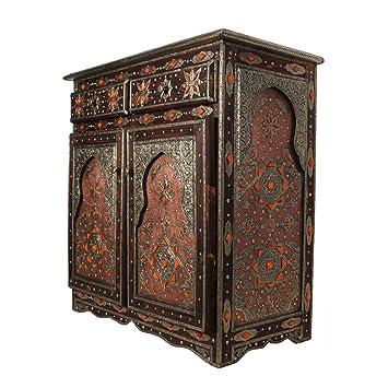 Kommode Sideboard Holz Schrank Marokkanisch Orientalisch Genna