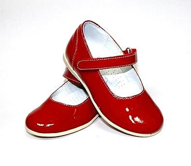 schön in der Farbe klassisch super beliebt Mädchen-Kinder-Schuhe-Ballerina-Pumps-Leder-Lack-Schuhe ...