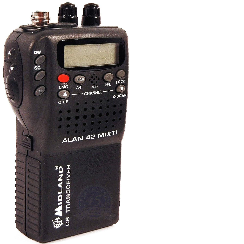 MIDLAND ALAN 42 MULTI HANDHELD CB TRANSCEIVER RADIO WITH ALL ACCESSORIES !