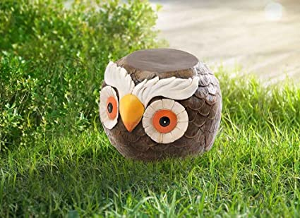 Tremendous Amazon Com Sunjoy Owl Garden Stool Brown Garden Outdoor Andrewgaddart Wooden Chair Designs For Living Room Andrewgaddartcom