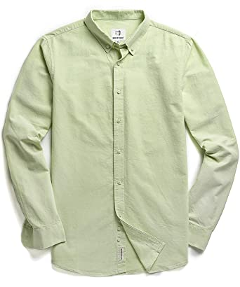 b897e504 Image Unavailable. Image not available for. Color: Men's Oxford Long Sleeve  Button Down Casual Dress Shirt ...
