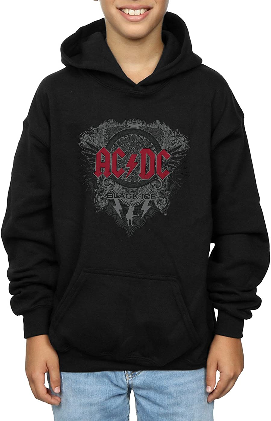 AC//DC Boys Black Ice with Red Hoodie