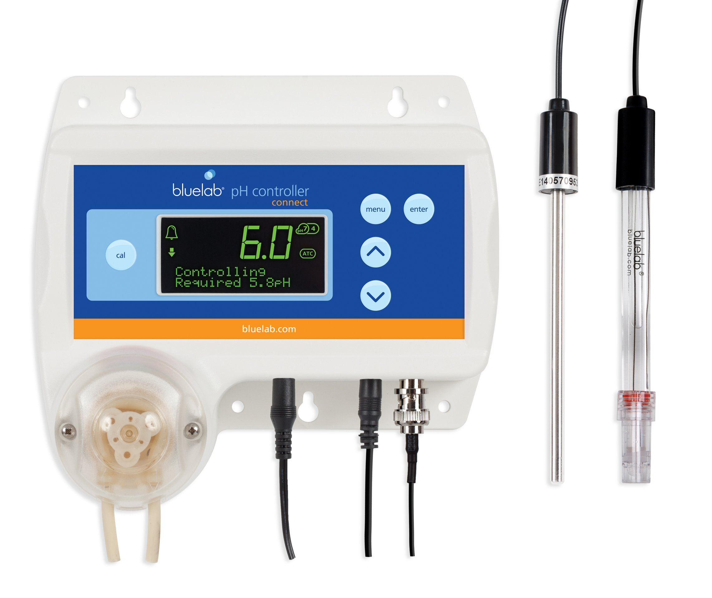 Bluelab pH Controller Connect with Clever Monitoring, Dosing and Data Logging of Solution pH Levels Excludes Bluelab Connect Stick