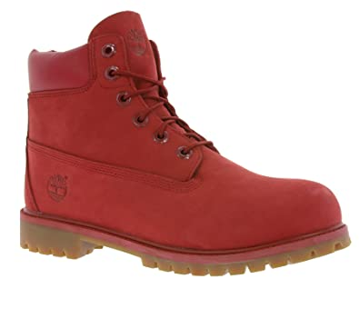 2c62ff084cd Timberland Junior Red 6 Inch Premium Waterproof Boots: Amazon.co.uk ...