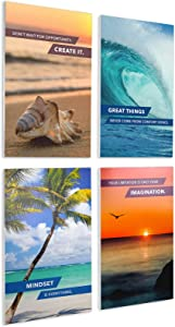 Excello Global Products Wooden Inspirational Signs - 4 Pack - 10x16 inches - Decor for Home, Restaurant, or Business