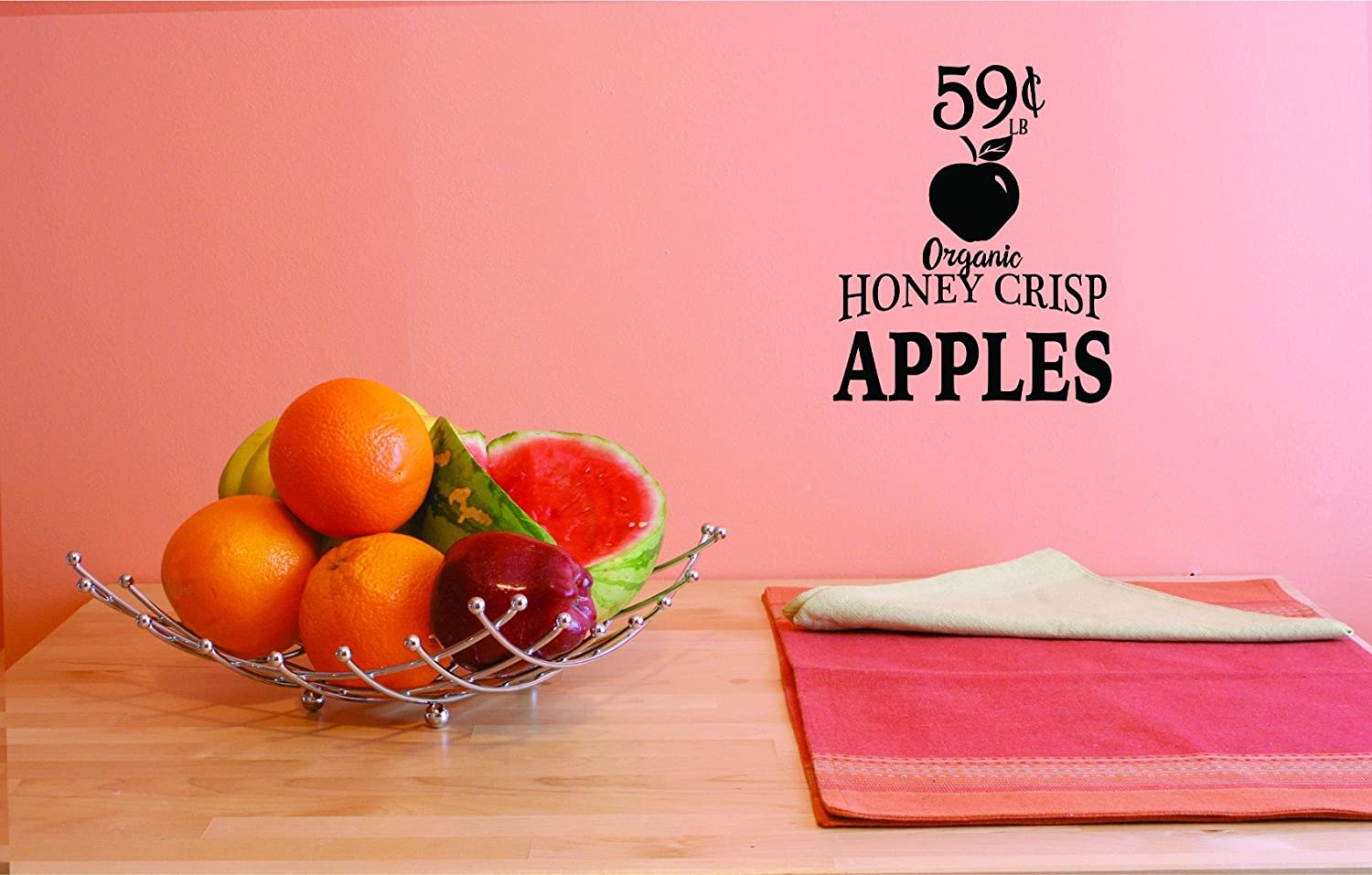 Design with Vinyl JER 1778 3 3 Hot New Decals Organic Honey Crisp Wall Art Size x 18 inches Color 18 x 18 Black
