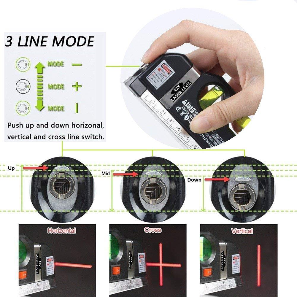 ... de Nivel Multipropósito Horizontal Medida vertical + Detector de Pared Encontrar Stud Finder con 3-en-1 Metal AC Alambres Escáner de Madera: Amazon.es: ...