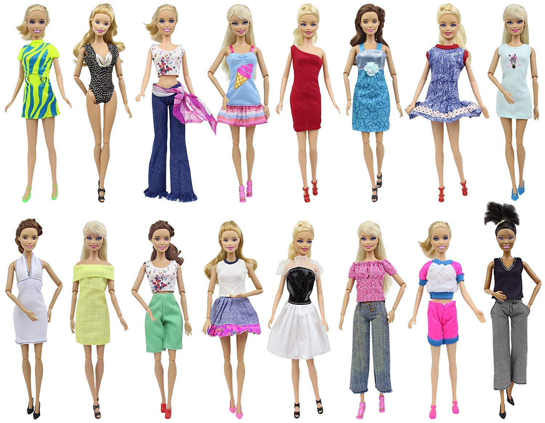 Amazon.es: ZITA ELEMENT Ropa Barbie Fashionista 15 Piezas - 5 Ropa / Vestidos Barbies Hecha a Mano + 10 Zapatos para 28-30cm / 11, 5 Pulgadas: Juguetes y ...