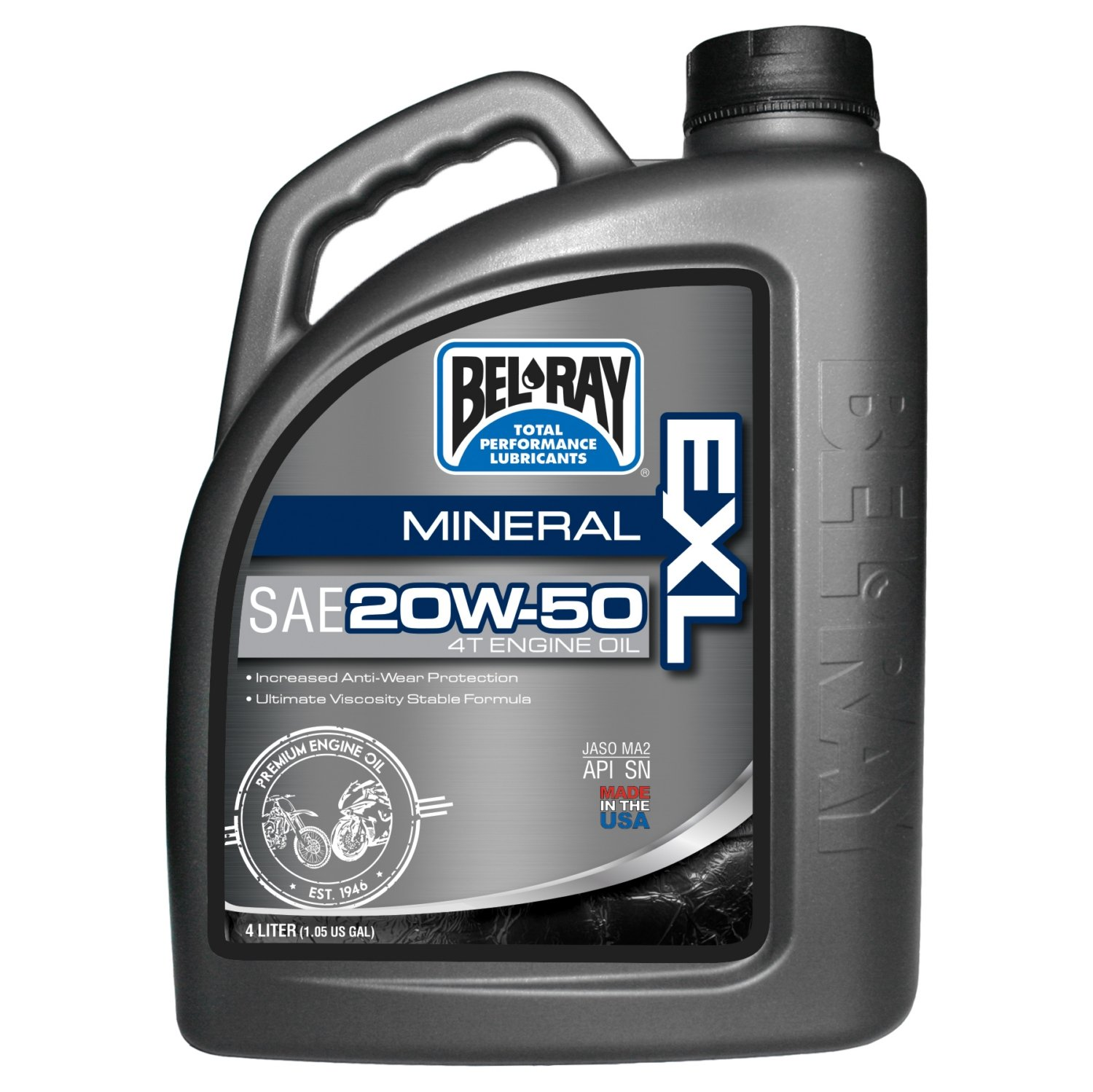 Bel-Ray EXL Mineral 4T Engine Oil - 20W50 - 4L. 99100-B4LW