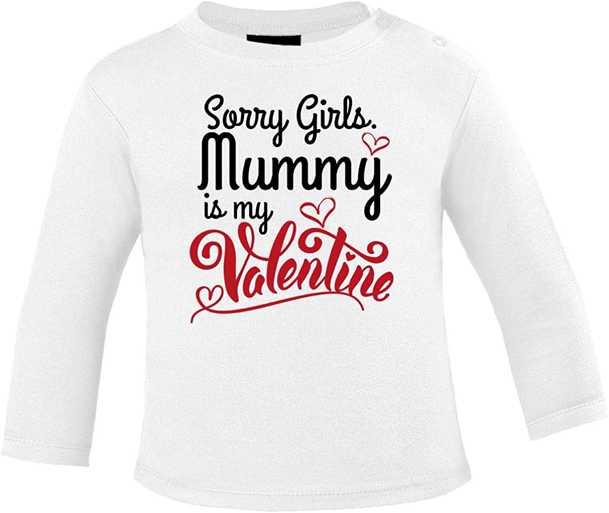 Mikalino Baby Longsleeve Sorry Girls Mummy is My Valentine