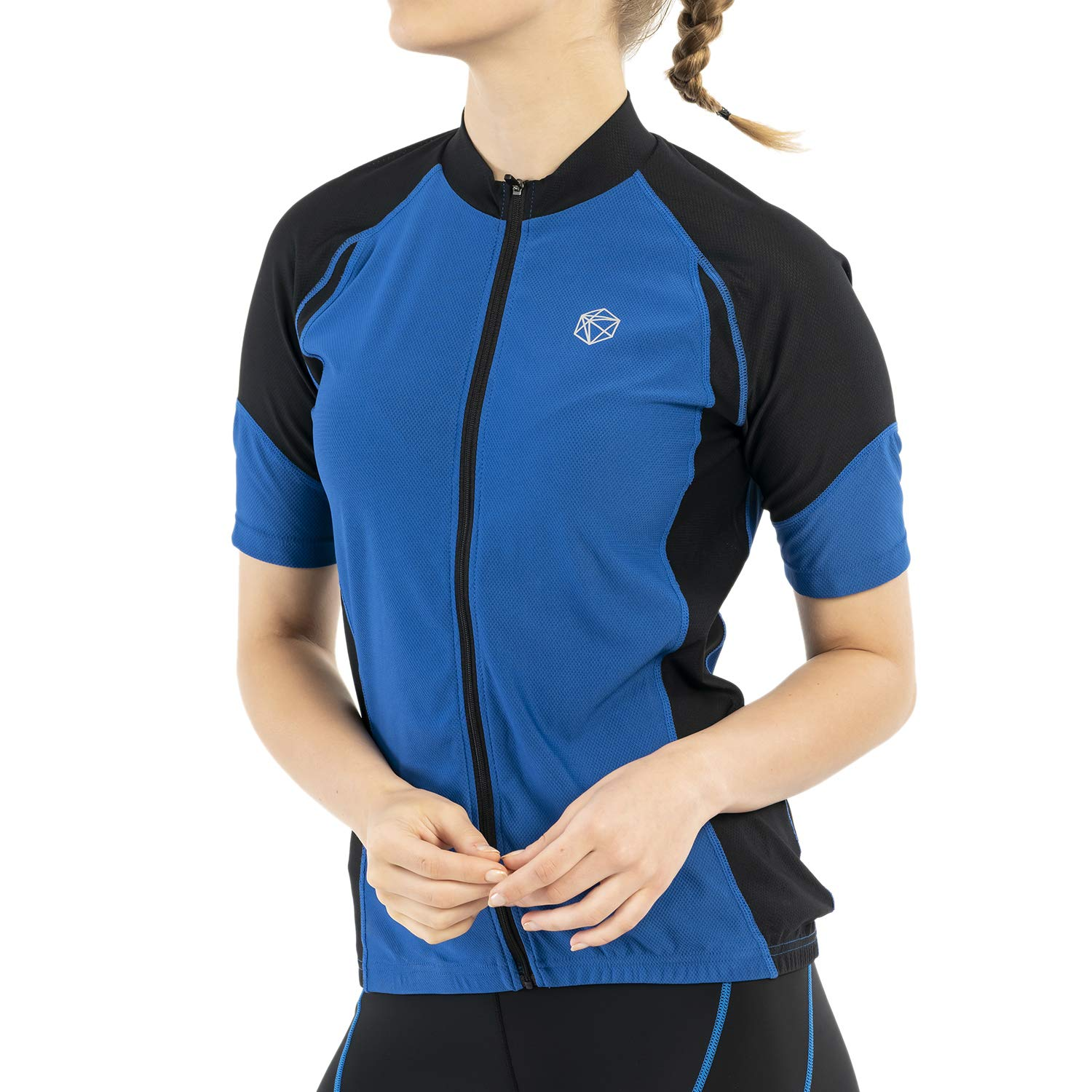 SILIK Women's Cycling Jersey Short Sleeve Bike Shirts with 3 Pocket,