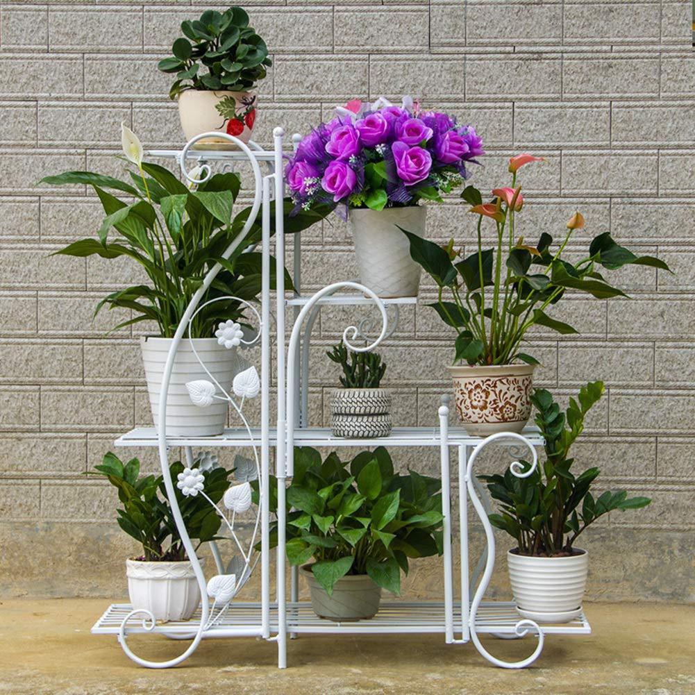 錬鉄の花スタンド,マルチ-層 屋内 床立つ花スタンド,バルコニー リビング ルーム 多機能 緑大根 肉質ポットラック-b 88*27*96cm B07RGPQYPS B 88*27*96cm