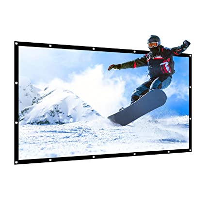 Amazon.com: APEMAN Pantalla de proyector plegable portátil ...