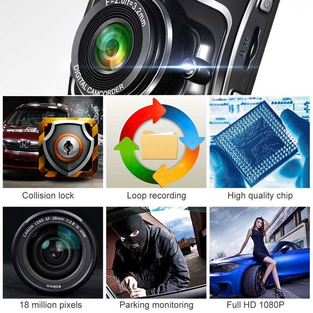 NAttnJf scudo forma 2,4 pollici 1080P auto DVR telecamera notte visione video registratore Dash Cam-blu