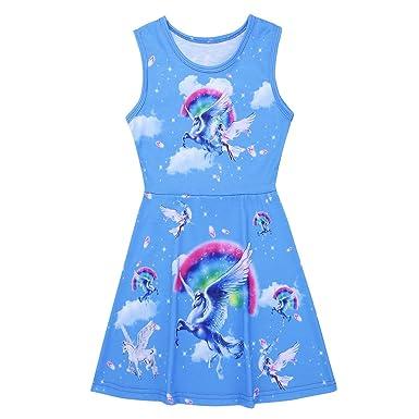 Freebily Vestido Niña, Vestidos de Princesa Unicornio Vestido de Verano para Bebe Niña Cumpleaños: Amazon.es: Ropa y accesorios