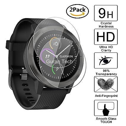 [2 Pack] Guran® Protector de Pantalla Vidrio Cristal Templado Para Garmin vívoactive 3 GPS-Fitness-Smartwatch Cristal Vidrio Templado Film