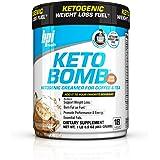 BPI Sports Keto Bomb Ketogenic Creamer for Coffee and Tea, Caramel Macchiato, 18 Servings