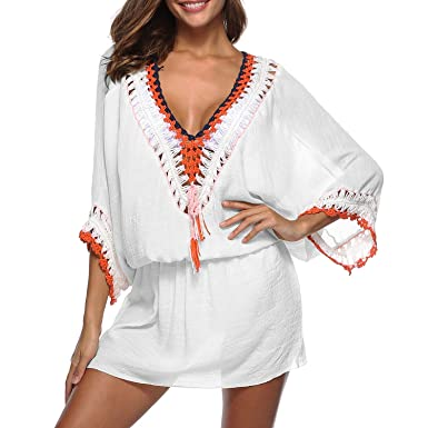 9a08c7862cd6 MuRstido Pareo Mujer Bikini Cover Up Vestido para Playa Verano Beach ...