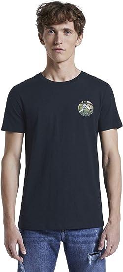 TALLA L. TOM TAILOR Denim Rundhals Camiseta para Hombre