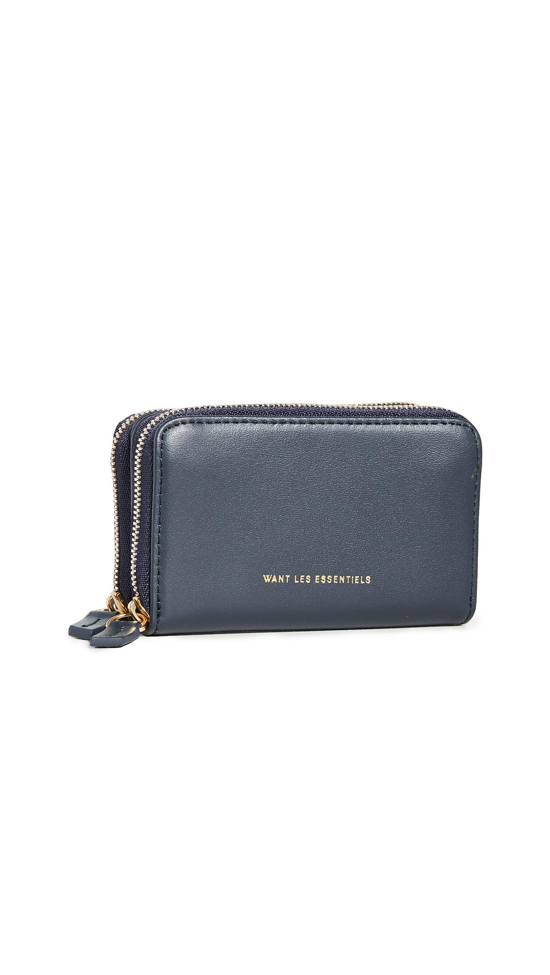 WANT Les Essentiels Women's Mini Petra Double Zip Card Holder, Navy/Jet Black, One Size by WANT Les Essentiels