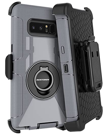 Galaxy Note 8 Case Kickstand BENTOBEN Swivel Ring Belt Clip Heavy Duty  Shockproof Full Body Rugged Bumper Hybrid Holster Protective Tough Phone  Case