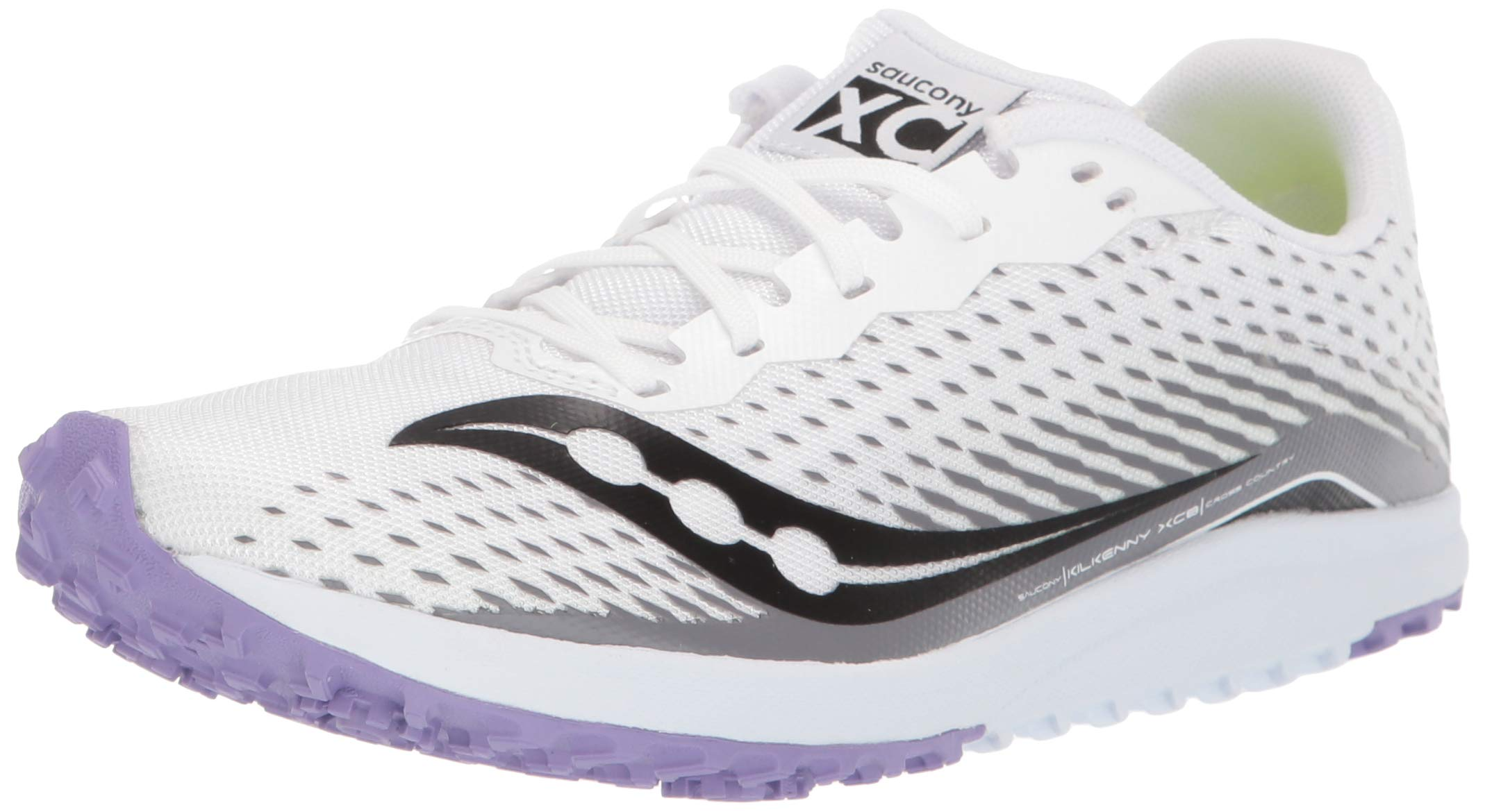 Saucony Women's Kilkenny XC8 Flat Track Shoe, White/Purple, 5 Medium US by Saucony