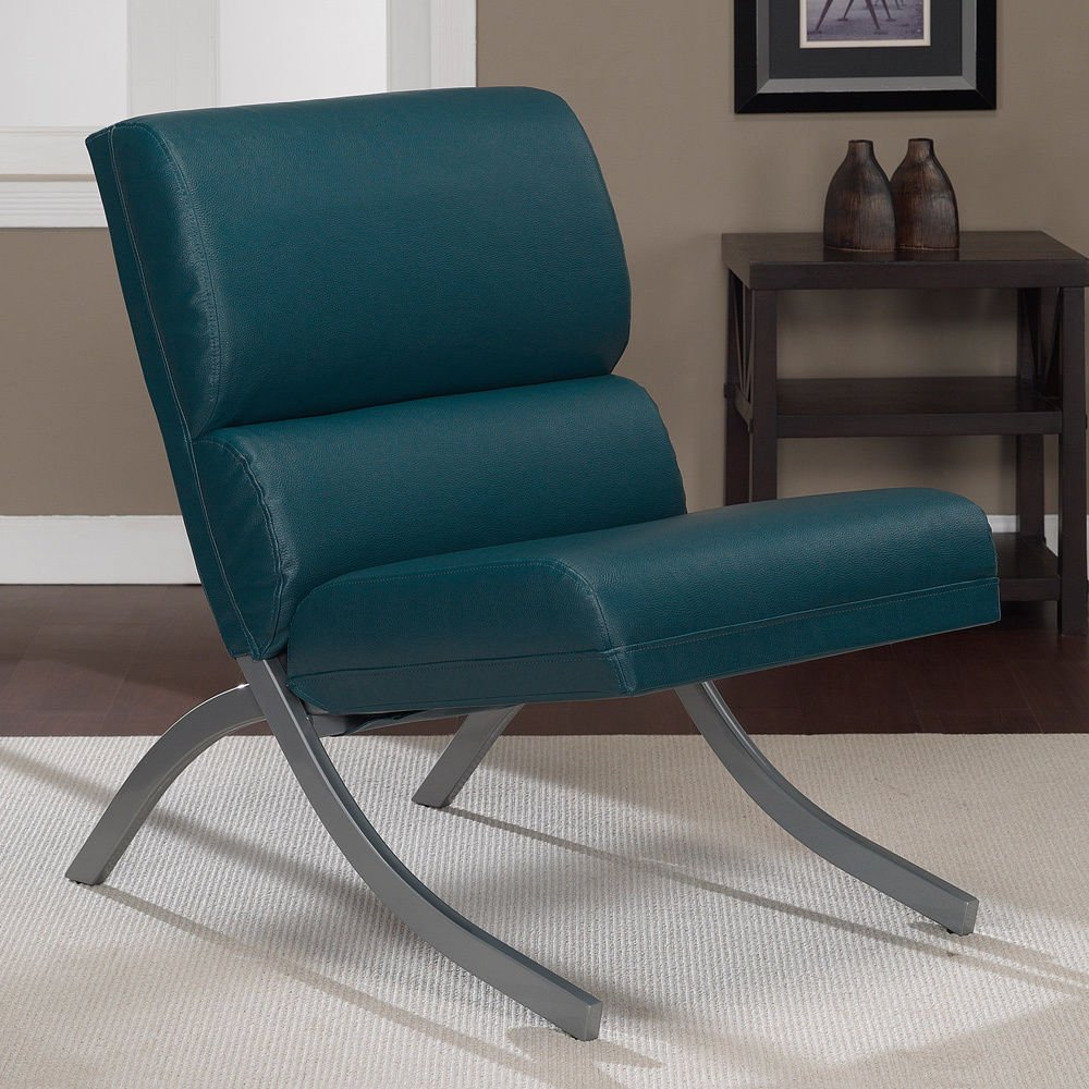 Amazon.com: Rialto Teal Bonded Leather Upholstery Chair: Kitchen U0026 Dining