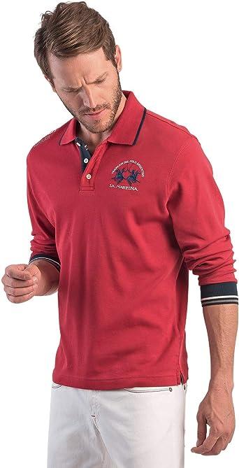 La Martina Man Polo L/s Jersey Interlock, Rojo (Chili Pepper 06007 ...