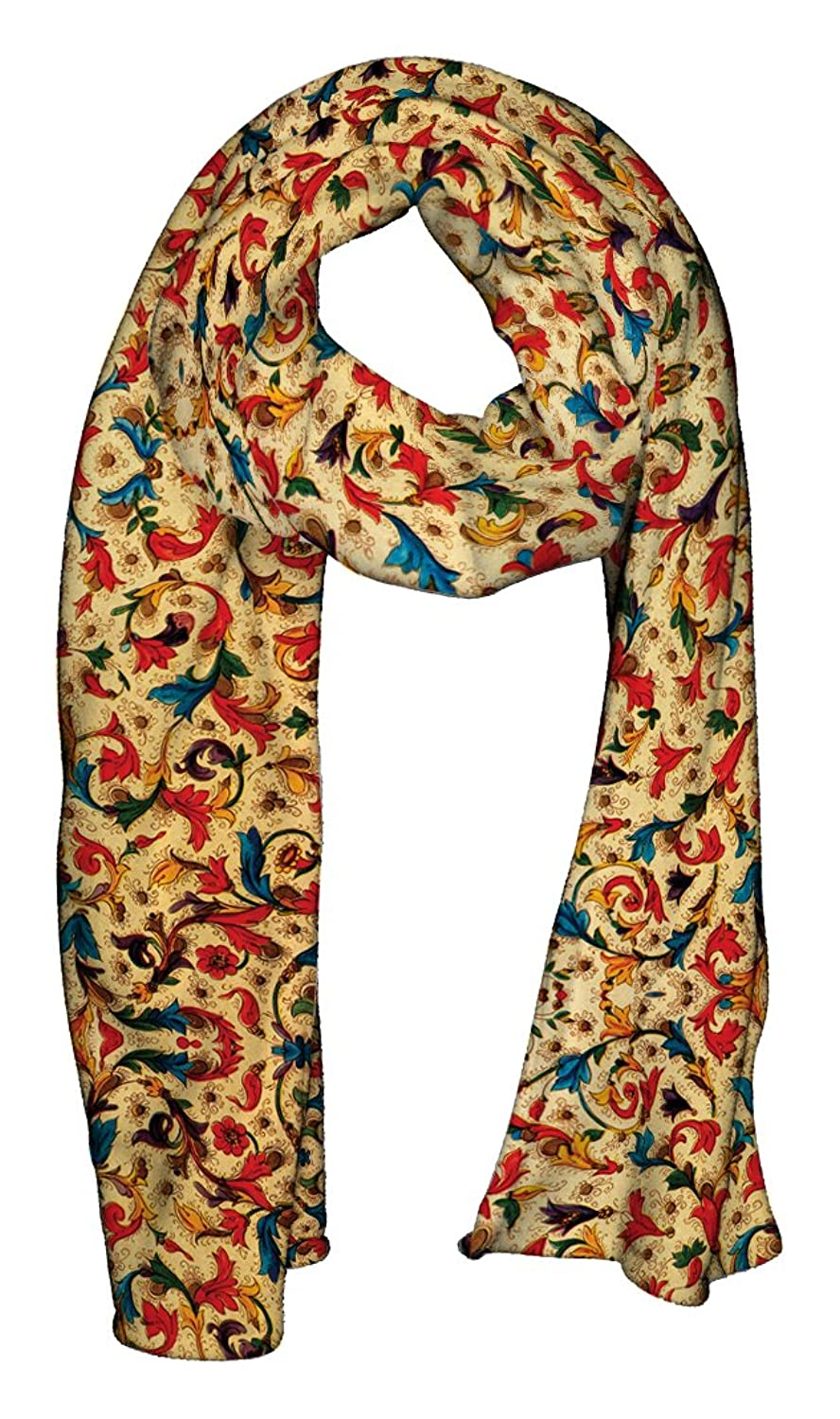 Goby Scarves ''Colorful & Floral Scarf Design'' Printed Colorful AT001