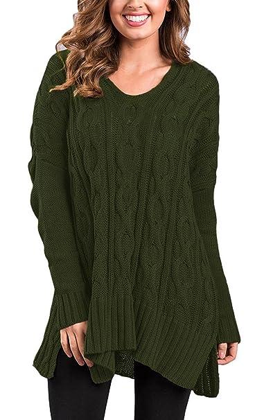 edb6711c935 Twippo Women s Long Oversized Jumper Knitted Baggy Loose Knitwear ...