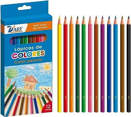 DArt 79401 - Caja de 12 lápices de colores: Amazon.es: Oficina y papelería