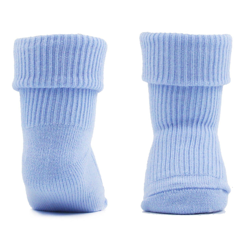 Newborn Infant Baby Cotton Socks 6 Pack 0-12 Months