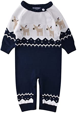 1f0b08abc ZOEREA Newborn Baby Romper Christmas Clothes Knitted Sweaters ...