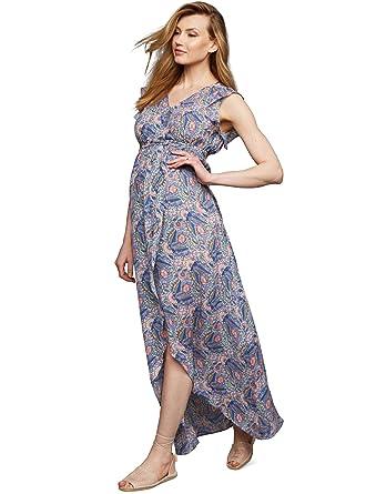 c8ba202dd32dd Amazon.com: Ella Moss Wrap Maternity Maxi Dress: Clothing