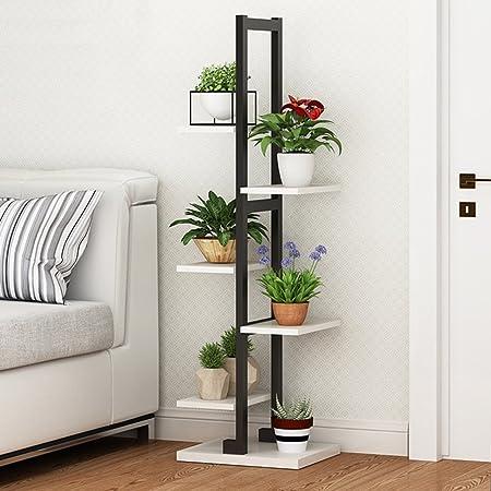 flower racks plant shelf decorative wooden plant display stand metal rh amazon co uk Metal Bakers Rack Plant Stand Patio Shelves and Racks