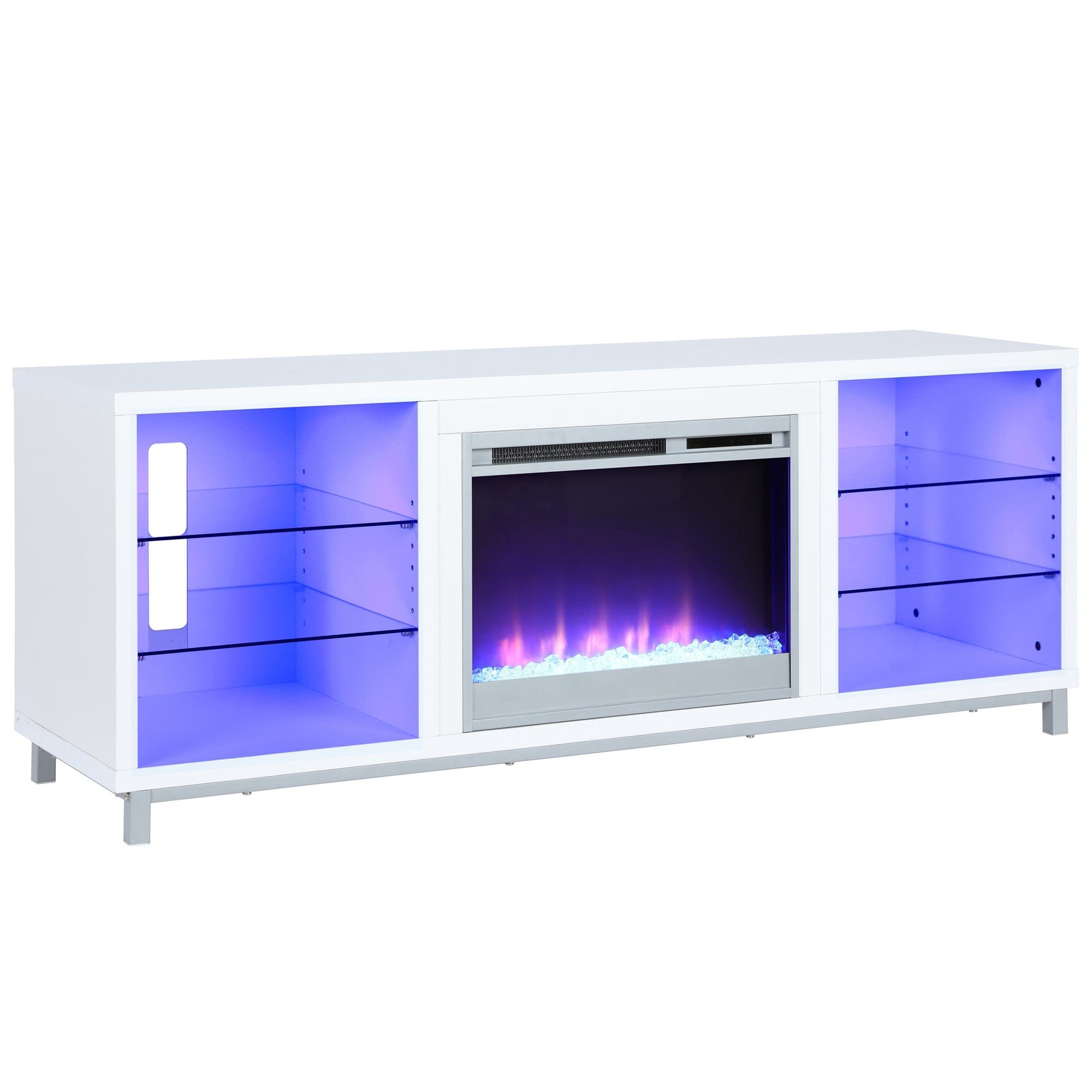 Lumina Fireplace TV Stand for TVs up to 70'', White by Ameriwood Home