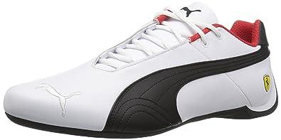 440788da6 PUMA Men's Ferrari Future Cat OG Sneaker,puma White-puma Black-Rosso Corsa
